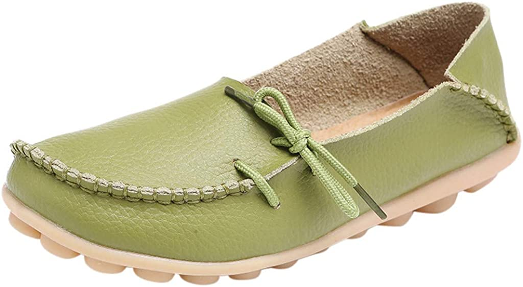 ✔ Hypothesis/_X ☎ Womens Casual Driving Shoes Moccasins Soft Flats Shoes Nurse Tie Flat Shoes Breathable Shoes