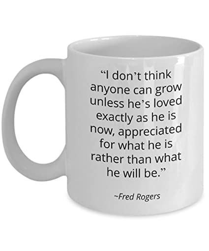 Amazon Mr Rogers Coffee Mug Famous Quotes I Dont Think