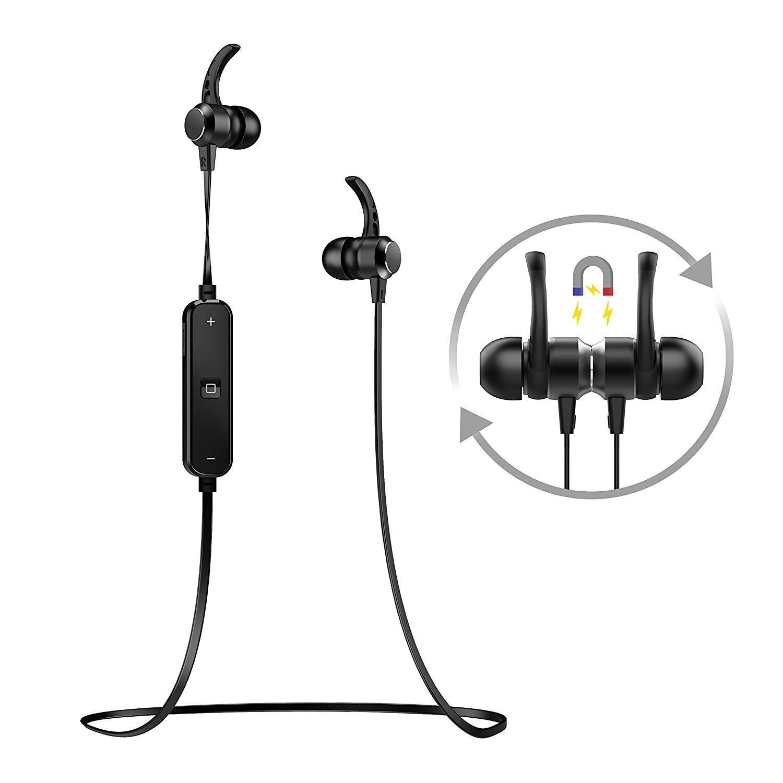 VSUGH Bluetoothイヤホン ワイヤレス ヘッドホン ヘッドセット ステレオ インイヤーイヤホン ノイズキャンセリングマイク付き 7   B07QH5TGQM