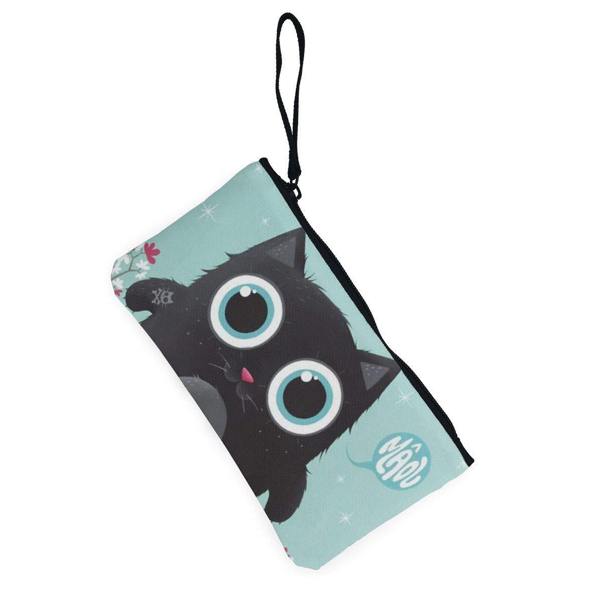 Canvas Cash Coin Purse,Diamond Diy Painting Owl Print Make Up Bag Zipper Small Purse Wallets