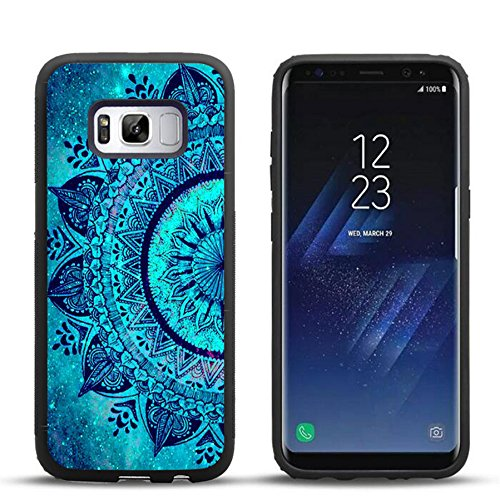 Samsung S8 Case The wonderful dream teal Mandala , DOO UC Laser Technology for Protective Case for Samsung Galaxy S8 Black