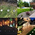 Solar in-Ground Decoration Lights with 16 LED Buried Lamp Path Lights Waterproof Outdoor Garden Landscape Lighting for Yard Driveway Lawn Pathway Walkway Disk (4 Pieces, White)