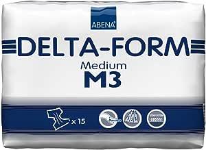 Abena Delta Form Brief, Medium, M3, 15Count