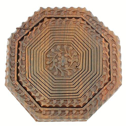 Handmade Collapsible Wooden Baskets : Folding collapsible wooden basket handcrafted in india