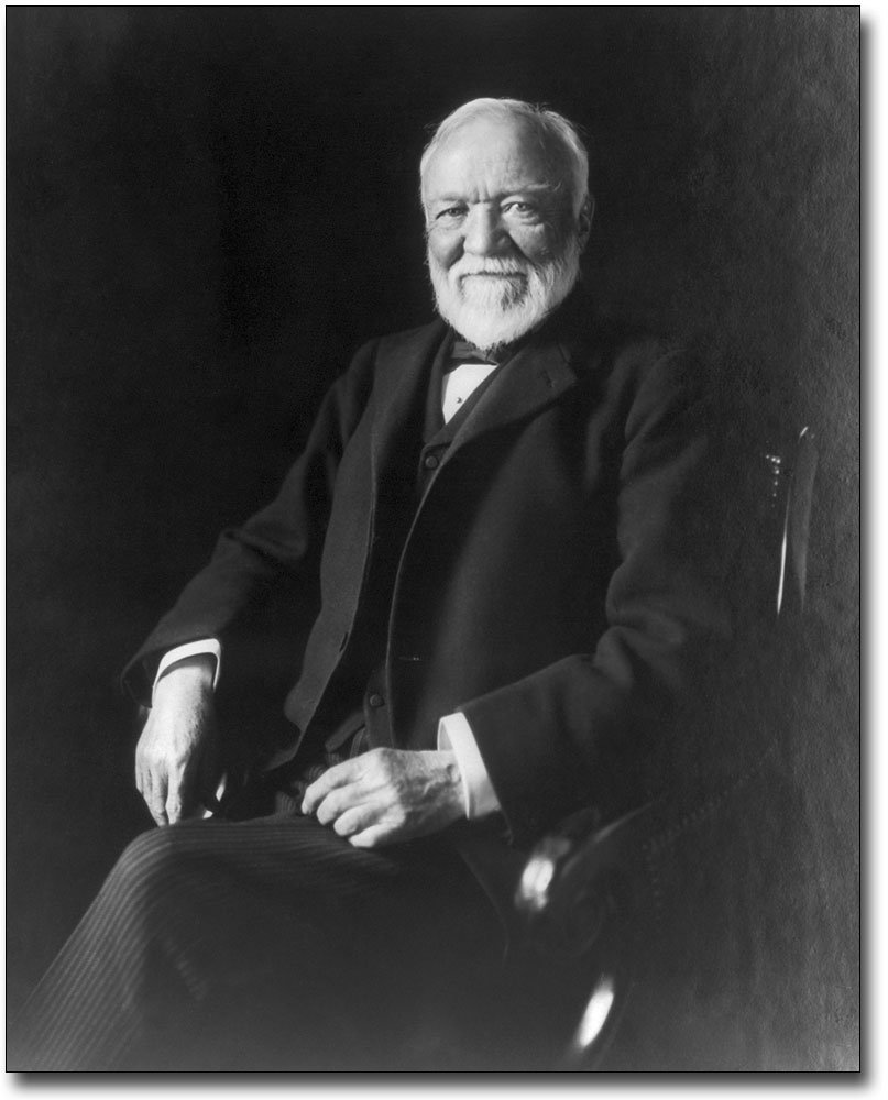 Andrew Carnegie Photo Seated Portrait 1913 8x10 Silver Halide Photo Print