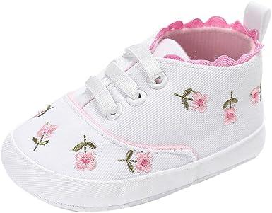 Newborn Infant Girl Crib Shoes Sole Prewalkers Anti-slip Sneakers Floral