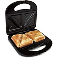 Sandwichera Electrica Grill para 2 Sandwiches Antiadherente 750 W - Negro