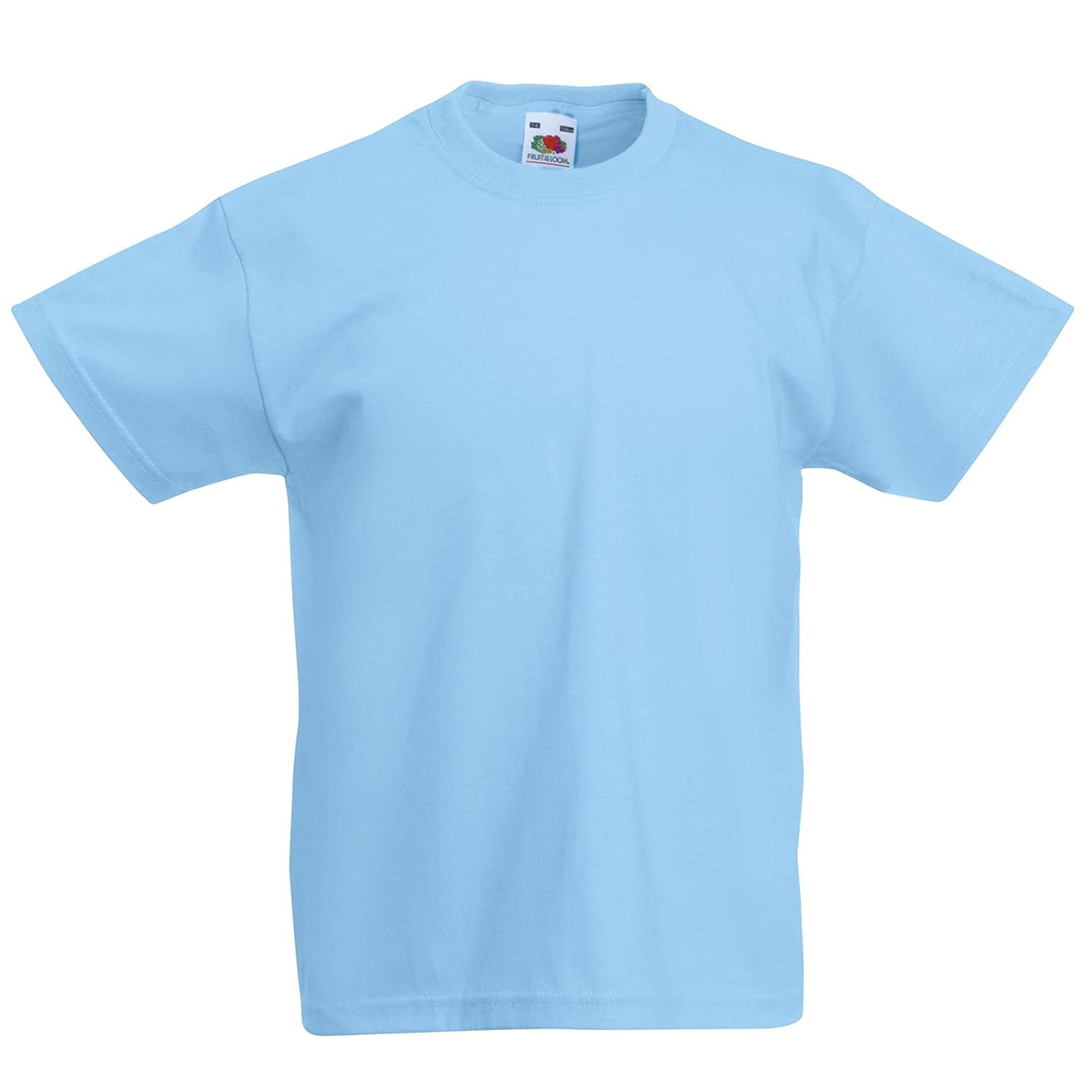 f858ce860 New Fruit of the Loom Childrens Kids Value Cotton T Shirt: Amazon.co.uk:  Clothing