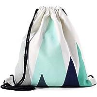 Nacnic Mochila de Asas con diseño. Hecha con Tejido Resistente de algodón. Dos Colores