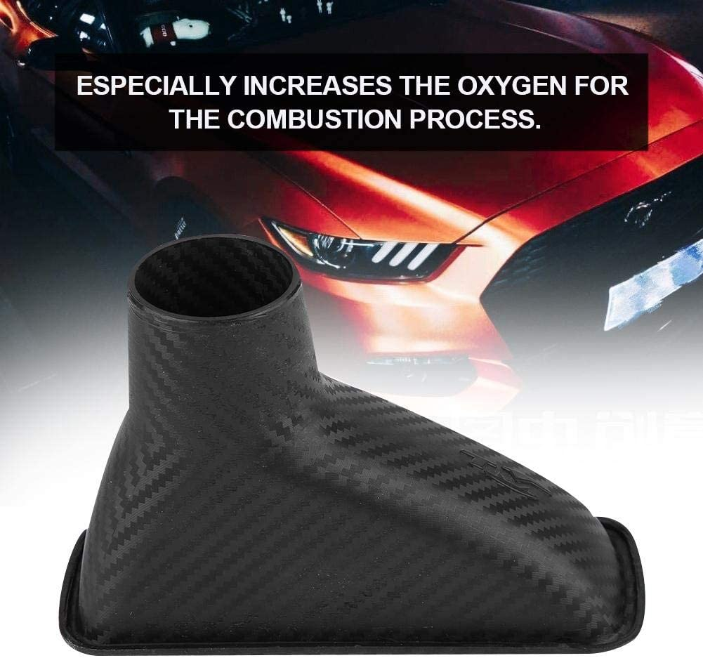 Universal Car Front Bumper Air Intake Turbo Modified Bumper Turbine Inlet Pipe Funnel Kit Square KIMISS Air Intake Turbo Inlet Pipe