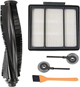 Novania Replacement Parts Kit Compatible with Shark ION Robot R85 R71 R72 R75 S86 S87 Vacuum Cleaner, 1 Bristle Brush + 2 Side Brush + 1 HEPA Filters + 1 Cleaning Tool, Sweeping Robot Accessories