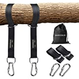 Sahara Sailor Tree Swing Hanging Straps (Set of 2), Two 5ft Straps, Holds 2200 lbs, Non-Stretch Swing Hanging Kit with…
