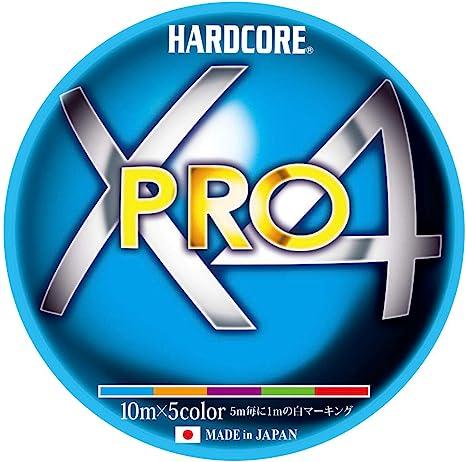 デュエル ハードコアX4 PRO 0.8号 200m 10m×5色ホワイトマーキングの画像