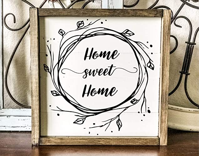 Home Sweet Home Sign Home Sweet Home Established Wood Sign Wood Signs New Home Date Wooden Signs Home Signs Farmhouse Style Shabby Chic