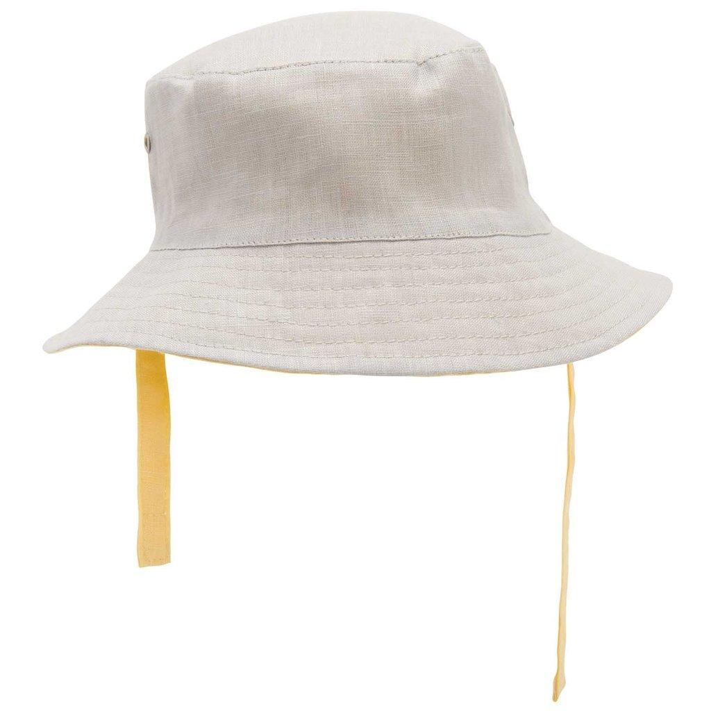 Elegant Baby Infant Baby Girl Linen Summer Sun Hat Reversible 6-12 months