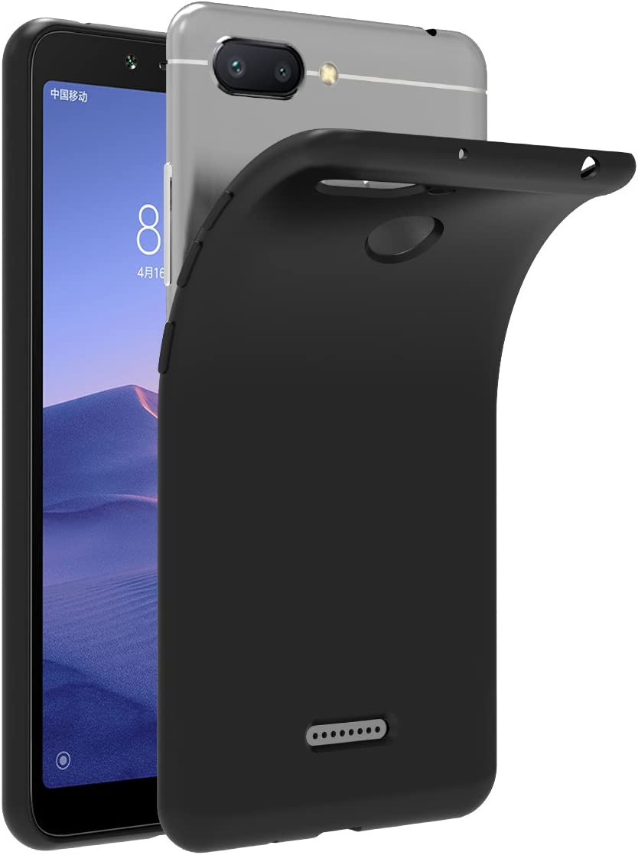 ivoler Funda Carcasa Gel Negro para Xiaomi Redmi 6 / Xiaomi Redmi 6A, Ultra Fina 0,33mm, Silicona TPU de Alta Resistencia y Flexibilidad