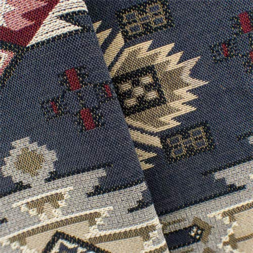 Navy Gray/Multi Aztec Jacquard Home Decorating Fabric, Fabric by The Yard