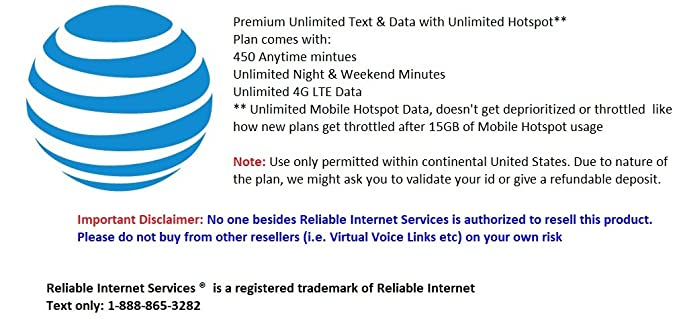 Unlimited Hotspot Plans >> Amazon Com At T Unlimited Text 4g Lte Mobile Data With Unlimited