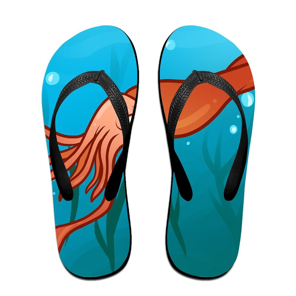 Unisex Summer Beach Slippers Giant Squid Flip-Flop Flat Home Thong Sandal Shoes