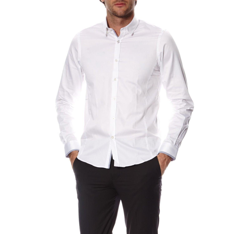 Joe Retro Chemise Homme Manches Longues Selya Blanc  Amazon.fr  Vêtements  et accessoires f4f7683db32e