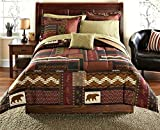 DOS Southwest Cabin Bear Queen Comforter Set (8 Piece Bed Bag)