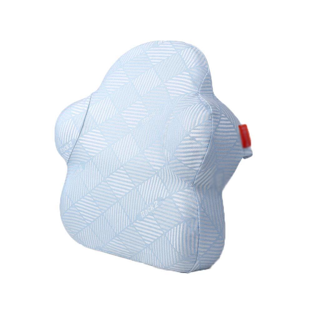 ウエストクッションオフィスの枕は疲労を和らげます妊娠中の女性の腰椎枕取り外し可能と洗えるホームチェア背もたれ腰椎パッド (色 : D)  D B07MKJZSRB