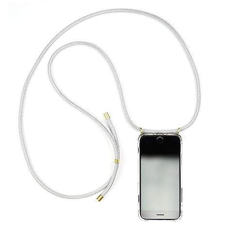 Funda para iPhone//Samsung//Huawei con Correa Colgante con Cordon para Llevar en el Cuello KNOK case KNOK Carcasa de movil con Cuerda para Colgar iPhone 7//8 Plus Hecho a Mano en Berlin