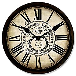 Galeries Lafayette Wall Clock, Available in 8 Sizes, Most Sizes Ship 2-3 Days, Whisper Quiet.