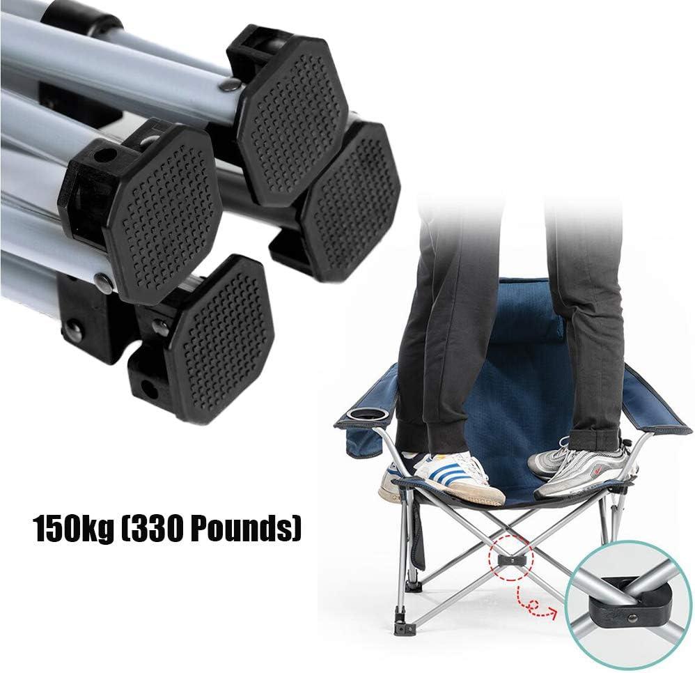 GLLSZ Pliable Camping Chaise pour Extérieur,Barbecue,Plage,Voyage,Pique-Nique,Festival,Léger Camping Randonnée Chaise Dossier Haut Oversize Portable Pelouse Chaise B5 C1