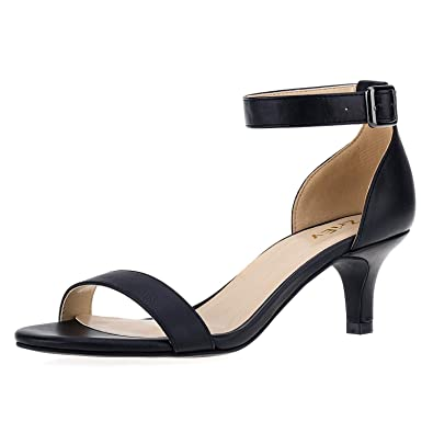 0ae6debdbdc ZriEy Women Sexy Open Toe Ankle Straps Low Heel Sandals Black Size 5