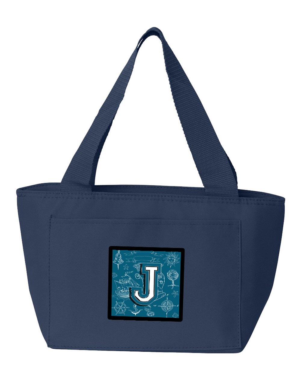 02a229d65663 Bag, Lunch Insulated Alphabet Initial Doodles Sea J Letter CJ2014 ...