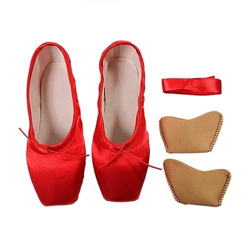 DoGeek Transpirable Pointe Zapatos de Ballet Pointe Ballet Zapatillas de Ballet de Danza Baile con Cintas y Toe Pads y Covert Elastic: Amazon.es: Zapatos y ...