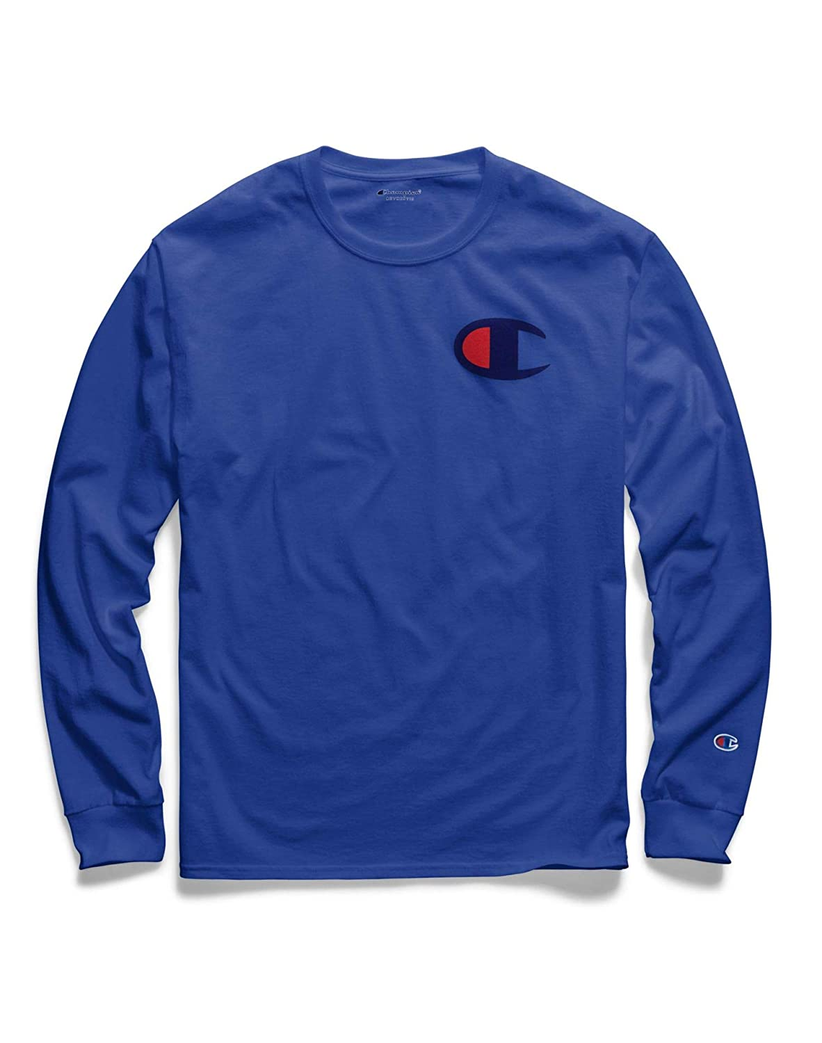 Champion Men's Classic Jersey Long Sleeve Graphic T-Shirt GT78H