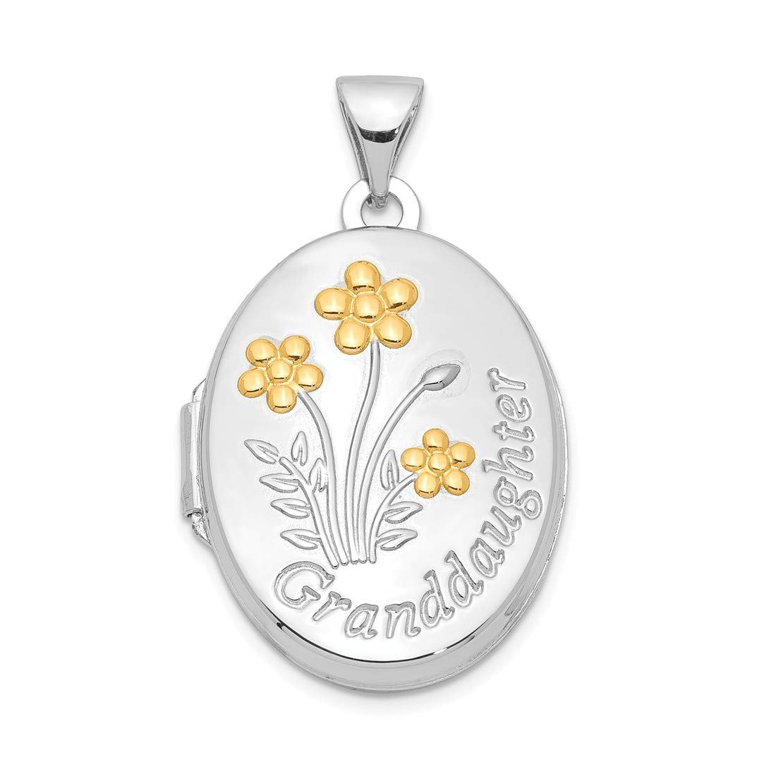 ICE CARATS 925 Sterling Silver Gold Plate Oval Granddaughter Photo Pendant Charm Locket Chain Necklace That Holds Pictures Fine Jewelry Ideal Gifts For Women Gift Set From Heart