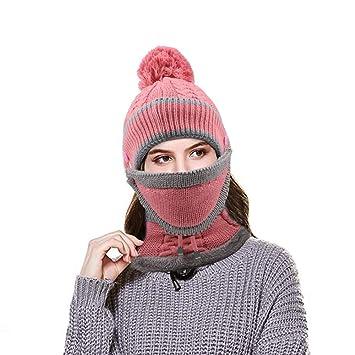 1a66c18e318 Hootracker Womens Slouchy Winter Skullies Beanie Hat Knitted Large Pom Pom  Cap Ladies Soft Warm Ski