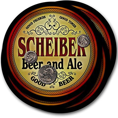 Scheiberビール& Ale – 4パックドリンクコースター   B003QXWZC4