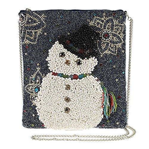 Mary Frances Worth Melting for Beaded Snowman Crossbody Handbag, - Snowman Beaded