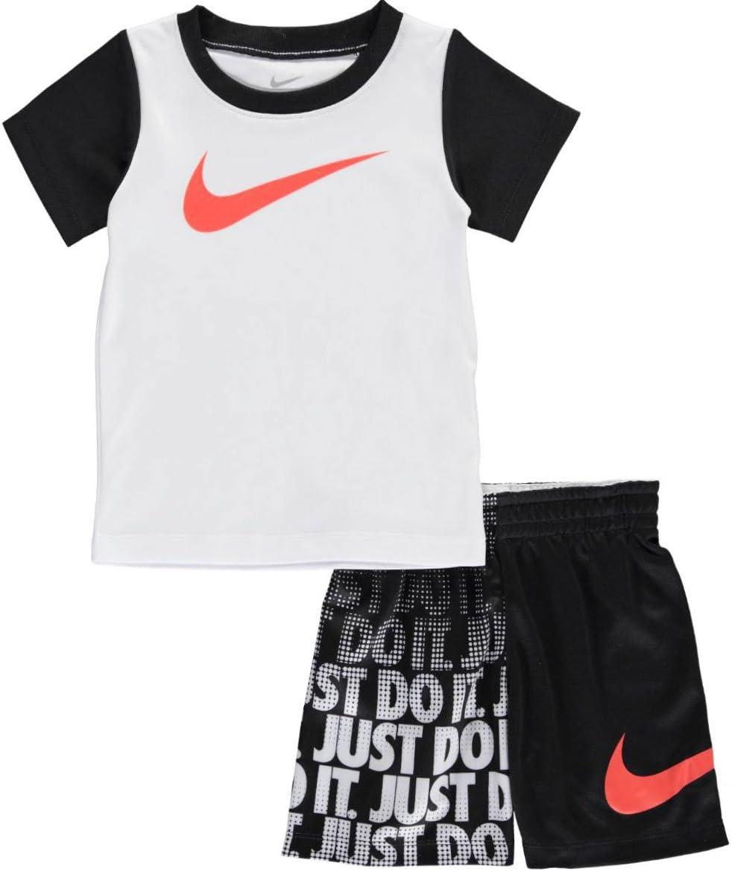 Nike 997-023 Conjuntos, Sin género, Blanco/Negro, 12 Meses: Amazon ...