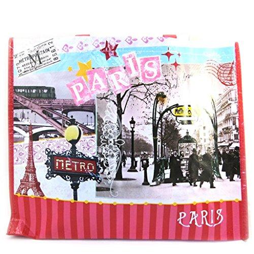 Shopping bag Métro De Parisrosso (44x36x20 cm).
