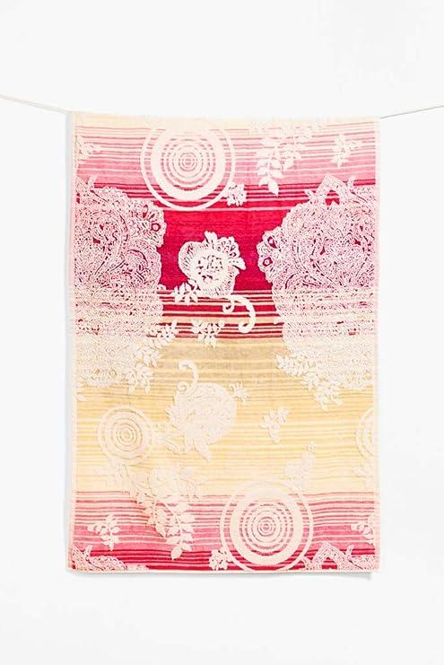 Desigual Towel Shower Jacq Essential Toalla de baño algodón Amarillo 86 x 160 cm