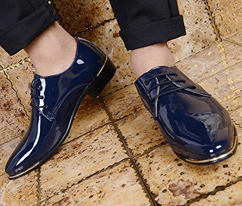 Basse Scarpe Business Derby di Blu Scarpe Uomo Cuoio Oxford Pelle wealsex 7IfHx