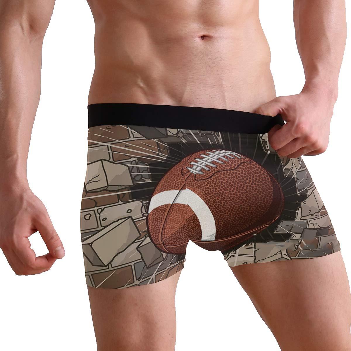 Mens Football Breaking Through Brick Wall Stretch 2 Pack Boxer Briefs Underwear