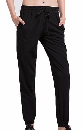 a235629ea39 Cody Lundin® Mujer Compresión Deporte Pantalones Negro Casual Suelto Trotar  Tenis Baile Pantalón  Amazon.es  Deportes y aire libre