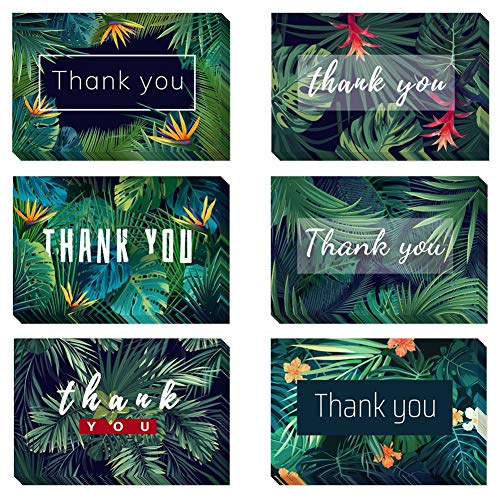 Magic Ants Floral Thank You Card Greeting Cards Gifts - Pack of 48 Note Cards with Envelopes & Seal Stickers - Graduation Wedding Bridal Baby Shower Anniversary - 6 Design Blank Inside 6x4 Inch