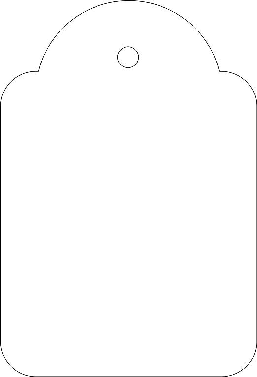 APLI 392 - Pack de 500 etiquetas colgantes, 36 x 53 mm, color ...