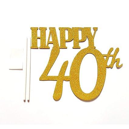 Amazon.com: Decoración para fiesta de 40 cumpleaños con ...