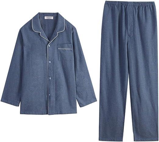 Pijamas Algodón De Manga Larga Hombres Primavera Y Otoño Algodón ...
