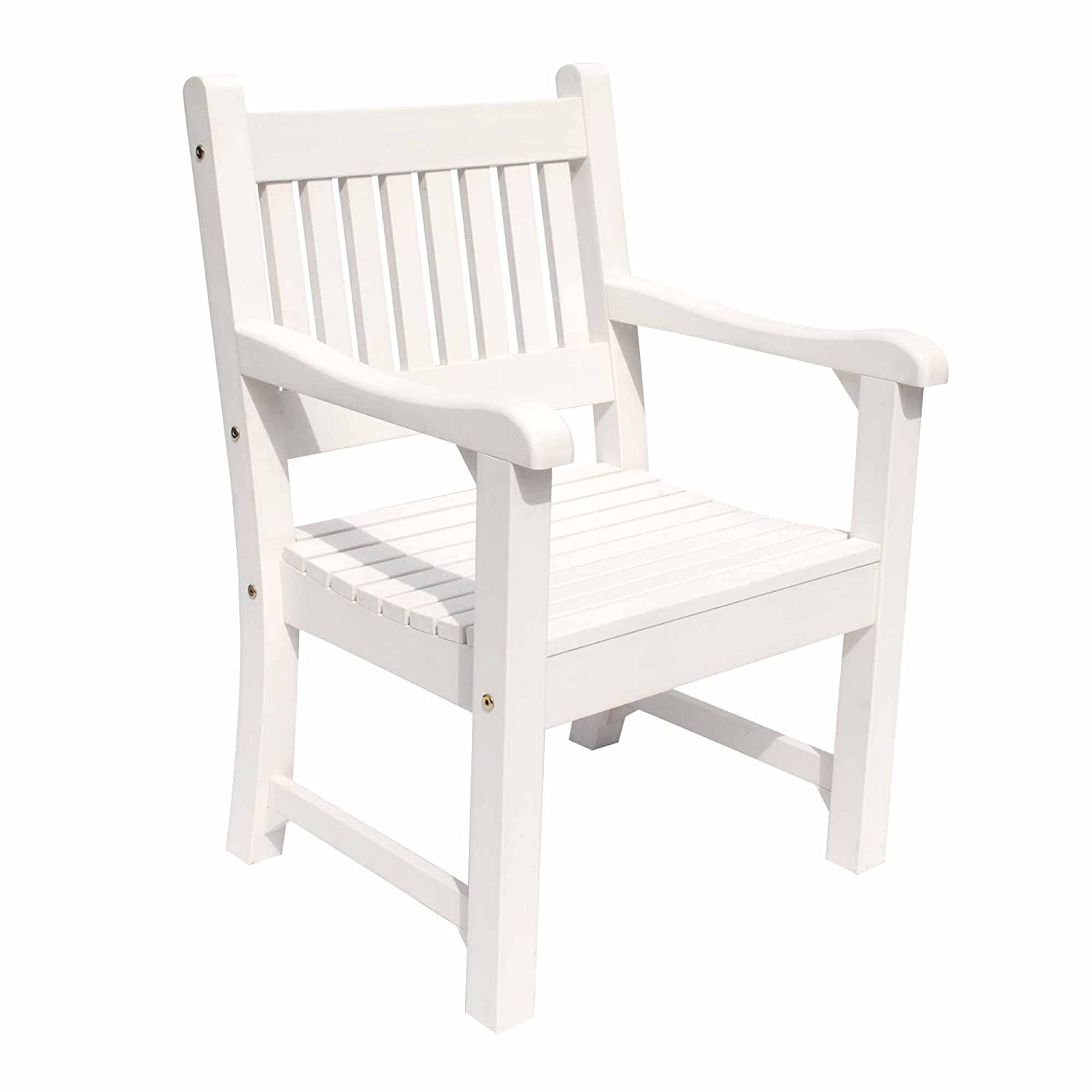 Amazon com shine company 7633wt sunrise outdoor dining chair white garden outdoor