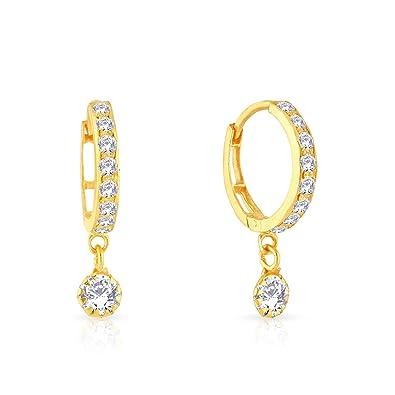buy malabar gold and diamonds 22k yellow gold hoop earrings online