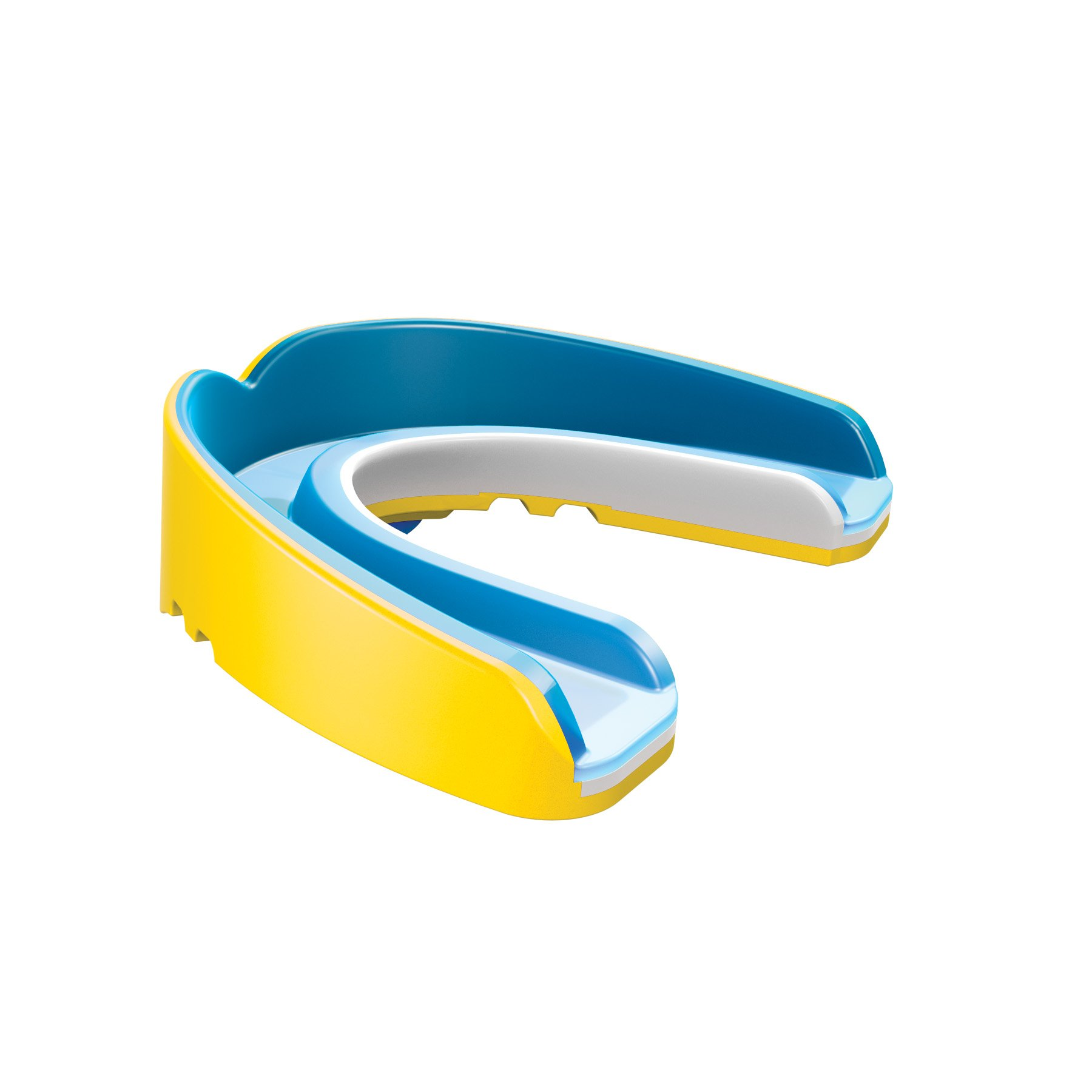 Shock Doctor Nano 3D Convertible Mouthguard (Pearl Yellow, Adult)